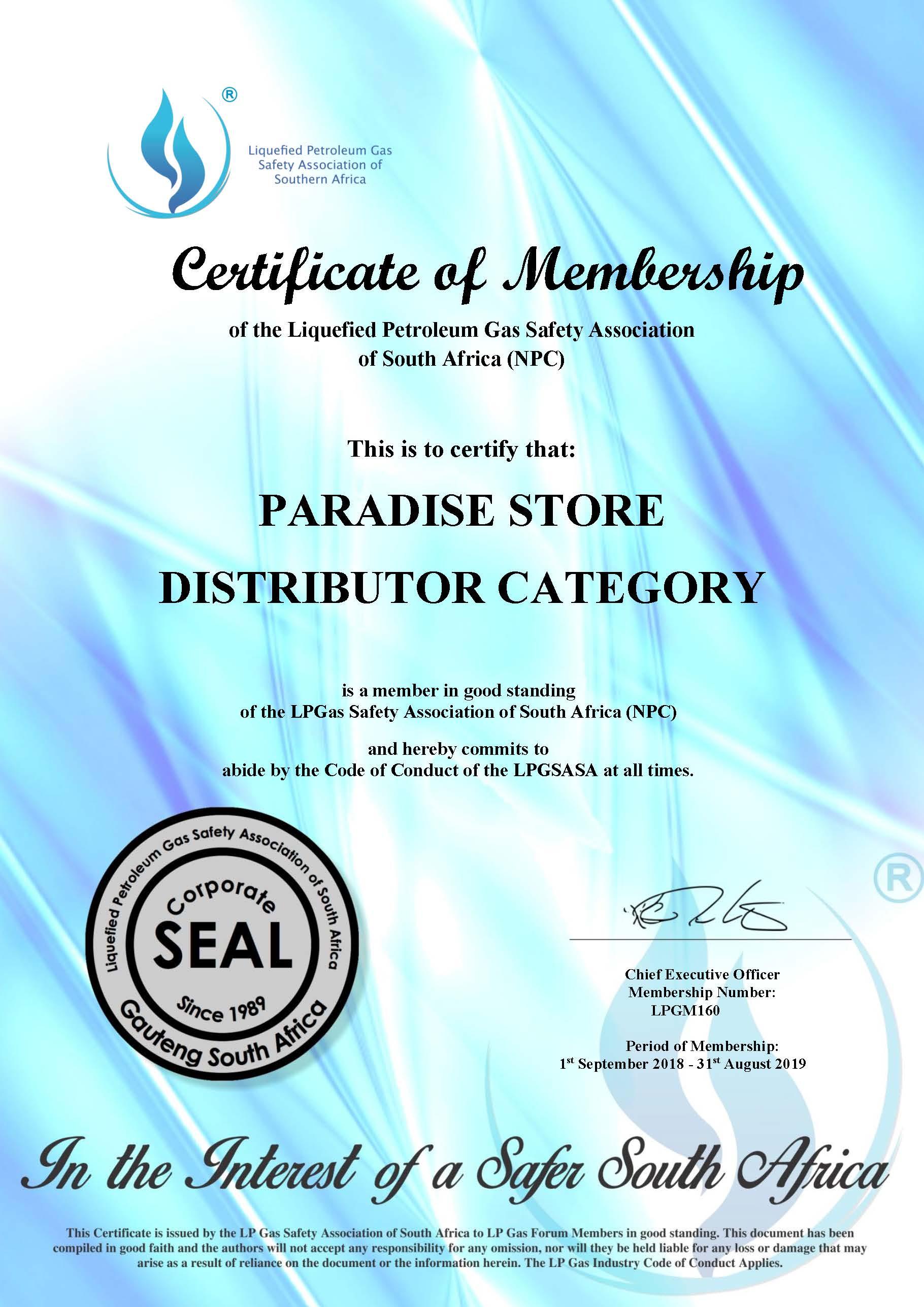 Paradise Store – Ladysmith LPG Gas Refill & Bulk Diesel